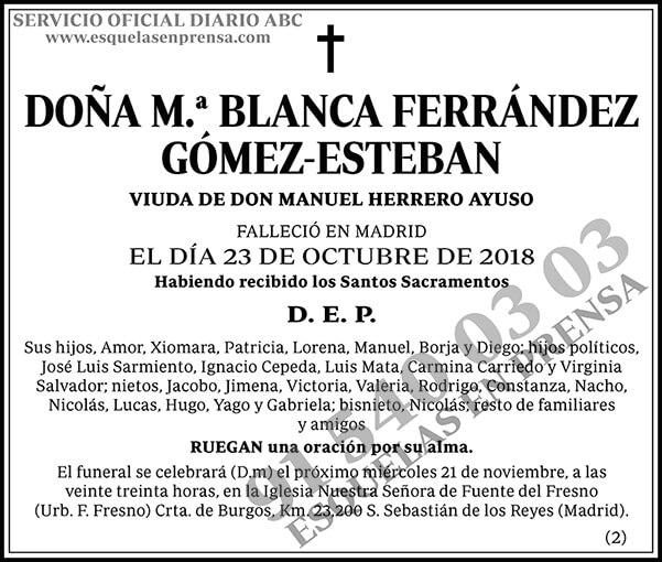 M.ª Blanca Ferrández Gómez-Esteban